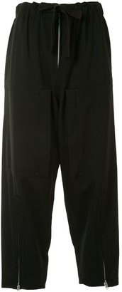 Y's Multi-Pocket Zip Cuff Cropped Trousers