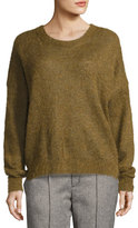 Isabel Marant Difton Knit Crewneck Sweater, Bronze