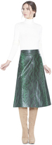Alice + Olivia Romi Leather Front Skirt