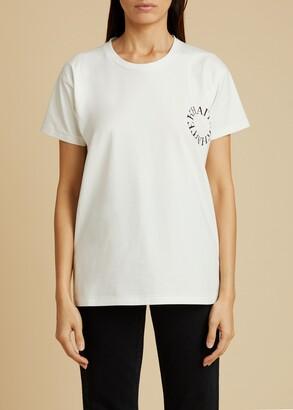 KHAITE The Brady Logo T-Shirt in White