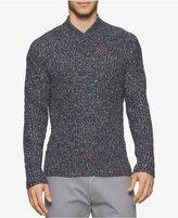 Calvin Klein Men's Space-Dyed Shawl-Collar Sweater