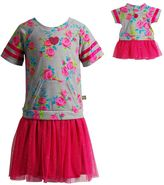 Dollie & Me Girls 4-14 Floral Knit Drop-Waist Tutu Dress