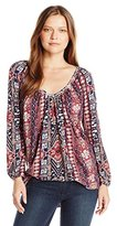 Lucky Brand Women's Tribal Printed Top