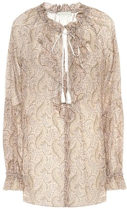Etro Paisley cotton and silk blouse