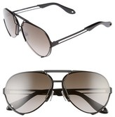 Givenchy Women's 65Mm Aviator Sunglasses - Black