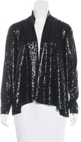 Alice + Olivia Draped Sequined Top