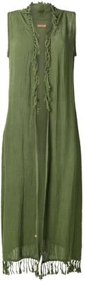 Caravana sleeveless open long vest
