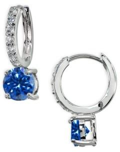 Giani Bernini Colored Cubic Zirconia Huggie Hoop Earrings in Sterling Silver