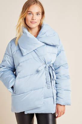 AVEC LES FILLES Oversized Wrap Puffer Jacket