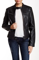 Rachel Roy Pleather Moto Jacket