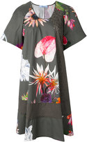 Blumarine floral print shift dress - women - Cotton/Spandex/Elastane - 38