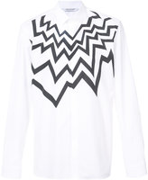 Neil Barrett zig zag print shirt - men - Cotton - 39