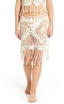 For Love & Lemons St. Lucia Crochet Cover-Up Skirt