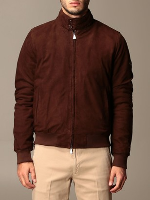 Roy Rogers Bomber Jacket In Suede