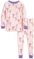 Burt's Bees Baby Girls' Sleep Bottoms GER - Hanger Pink Seahorses Joggers Organic Cotton Pajama Set - Toddler