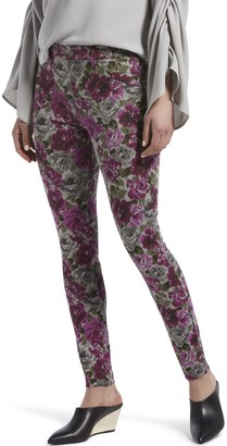 Hue Autumn Floral Print Denim Leggings