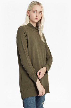 French Connection Sudan Marl Ribbed Zip Side Top