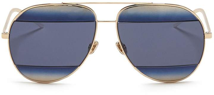 Christian Dior 'Dior Split 1' inset gradient metal aviator sunglasses