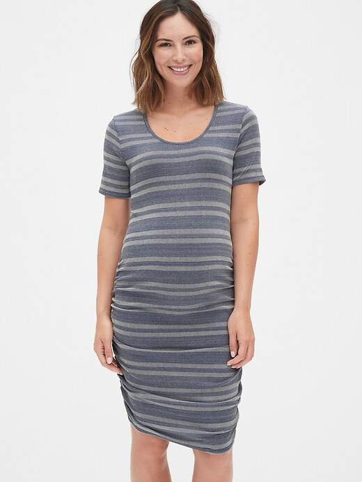 fad21d48500 Ruched Maternity Dress Jersey - ShopStyle UK