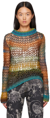 Anna Sui Green Sunset Spacedye Sweater