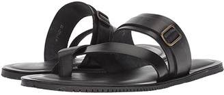 Massimo Matteo Ankle Strap Sandal (Black) Men's Sandals