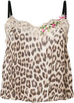 Twin-Set leopard print tank top