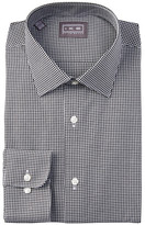Ike Behar Twill Gingham Full Fit Dress Shirt