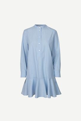 Samsoe & Samsoe Laury Shirt Dress - XS/34 | cotton | blue - Blue/Blue