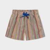 Paul Smith Baby Boys' Swimming Shorts With 'Signature Stripe' Print