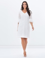 Privilege Provincial Ruffle Sleeve Dress