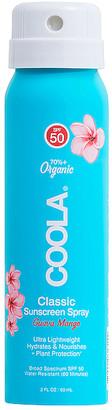 Coola Travel Classic Body Organic Sunscreen Spray SPF 50