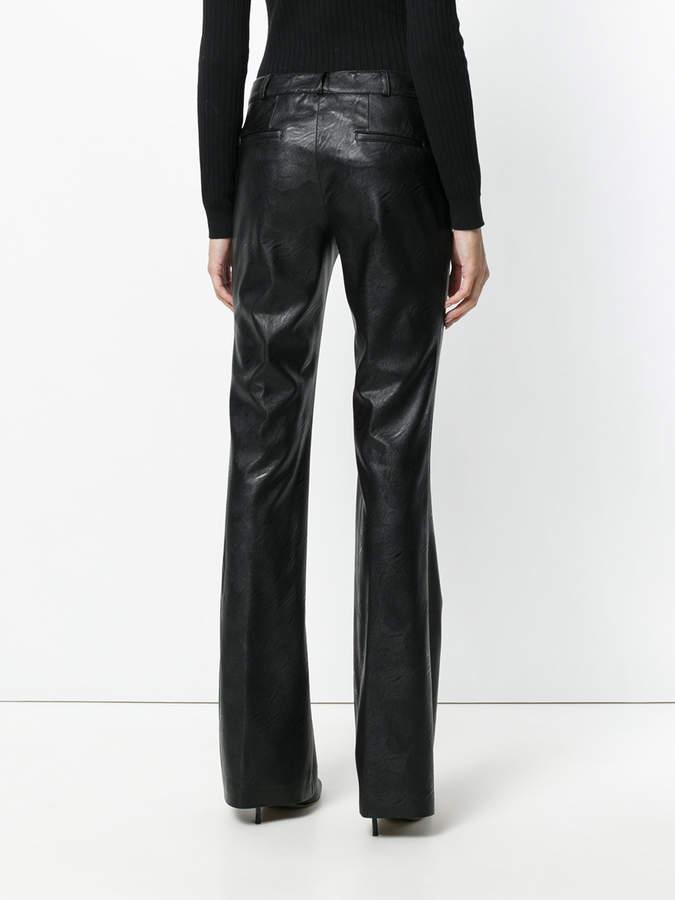Kiltie slim-fit flared trousers