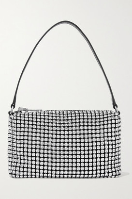 Alexander Wang Crystal-embellished Mesh Shoulder Bag - Black