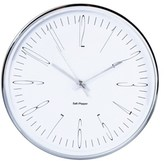 Salt&Pepper Salt & Pepper Zone 38cm Silver Metallic Clock