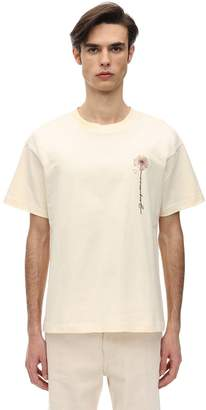 Jacquemus EMBROIDERED COTTON JERSEY T-SHIRT