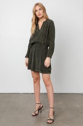 Rails Olive Green Snake Print Mini Dress - XS   green   Rayon/Viscose - Green/Green