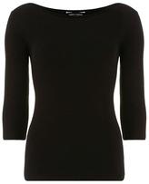 Dorothy Perkins Black 3/4 sleeve slash top
