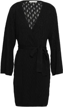 Skin Pointelle-knit Wool-blend Robe