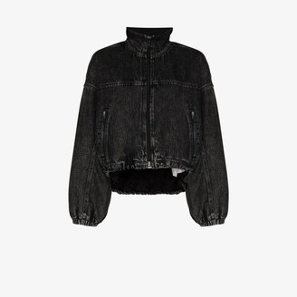 Alexander Wang Padded Denim Bomber Jacket