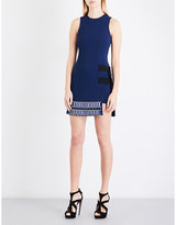 David Koma Tube-embellished cady dress