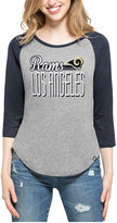 '47 Women's Los Angeles Rams Club Block Raglan T-Shirt