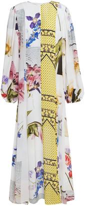 Ganni Printed Crepe De Chine Maxi Dress