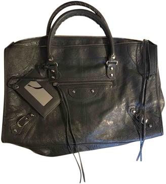 Balenciaga Weekender Grey Leather Handbags