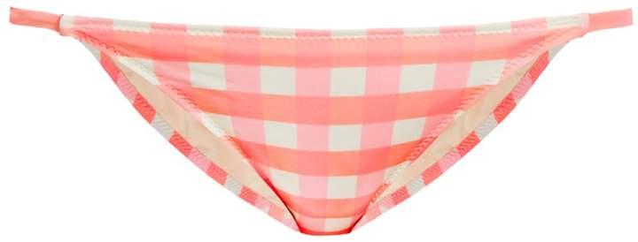 Solid & Striped The Morgan gingham bikini briefs