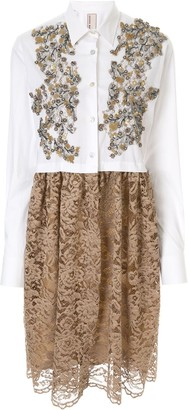 Antonio Marras Lace Shirt Dress