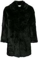 RED Valentino brooch detail coat - women - Polyamide/Polyester/Viscose/Rabbit Felt - 40