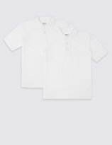Marks and Spencer 2 Pack Skin KindTM Unisex Pure Cotton Polo Shirts