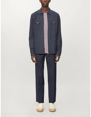 Eton Zipped slim-fit cotton-twill shirt