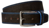 Berge Contrast Stitch Leather Belt