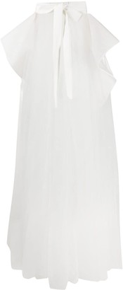Loulou Tulle Layered Back-Skirt